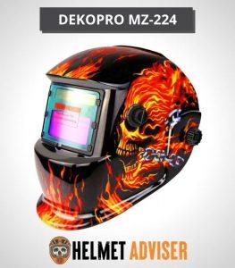 DEKOPRO Flaming Skull Welding Helmet