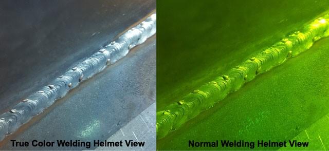 Auto-dark helmet with True color technology