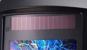 Solar power auto-dark welding helmet