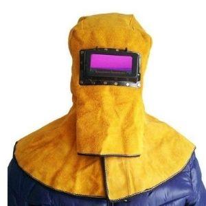 Leather hood welding mask