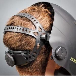 Highly adjustable HALO headgear of esab sentinel a50