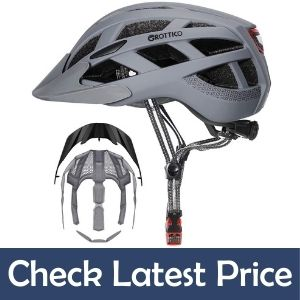 GROTTICO adult-Men-Women Bike Helmet with LED Light