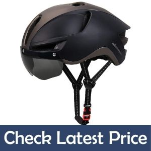 Shinmax Bike Helmet with detachable magnetic goggles