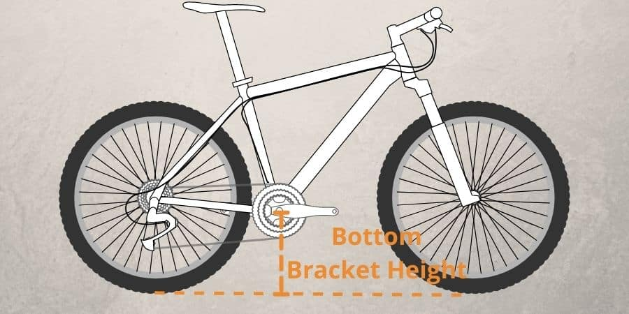 boottom bracket height is important factore while choosing Size Mountain Bike