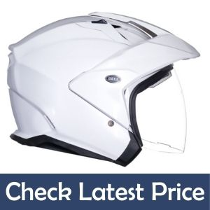 bell mag-9 open face motorcycle helmet