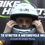 How to Stretch a motorcycle helmet