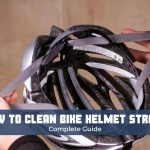 how to clean bike helmet straps