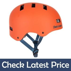 Retrospec CM-1 low profile Bicycle helmet for big face