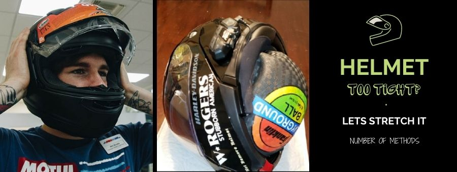 How to stretch a motorcycle helmet?